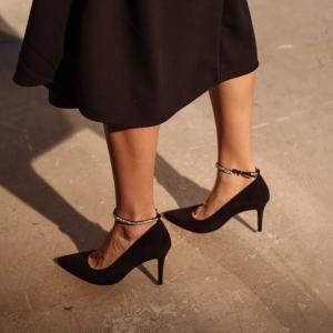 Лодочки Sophie черные замшевые фото-2