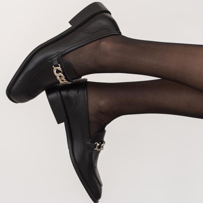 Лоферы Puff черные кожаные photo - 6