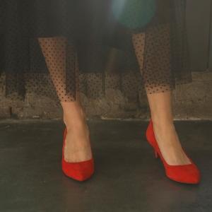 Лодочки красные 5,5 см photo - 5