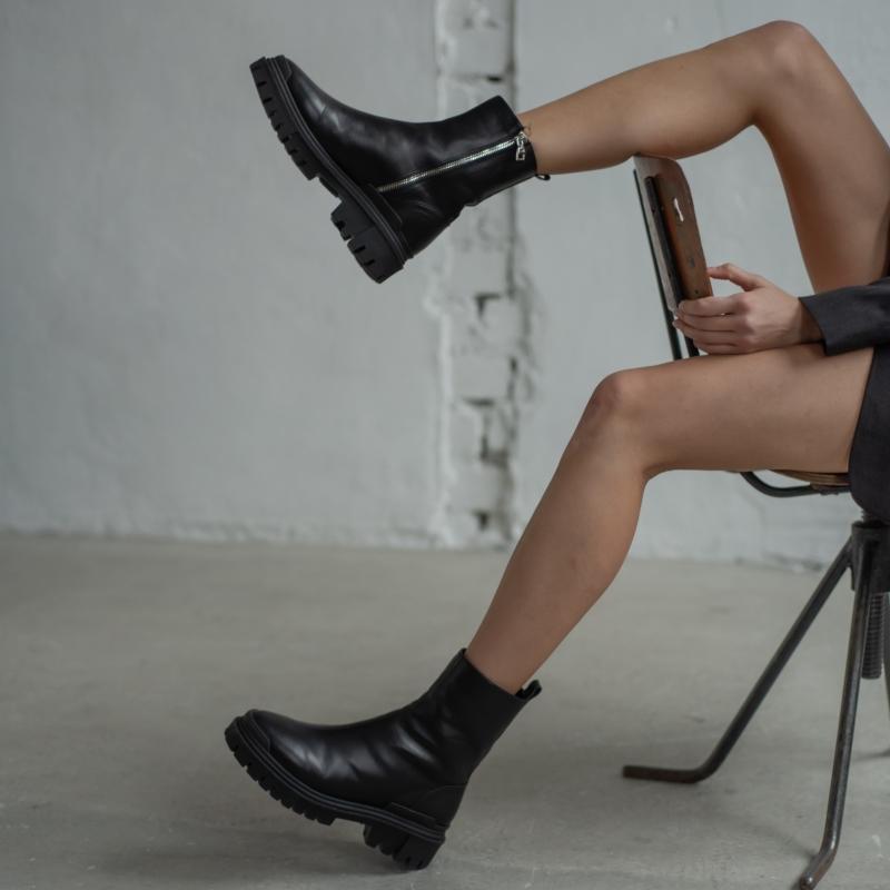 Черевики Martis чорні шкіряні photo - 6