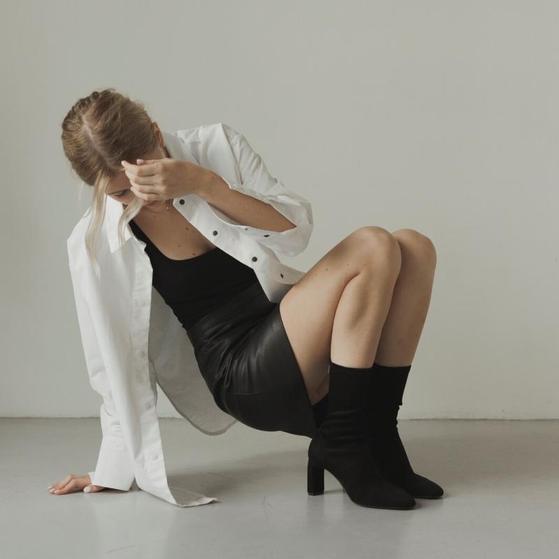 Юбка черная из эко кожи photo - 3