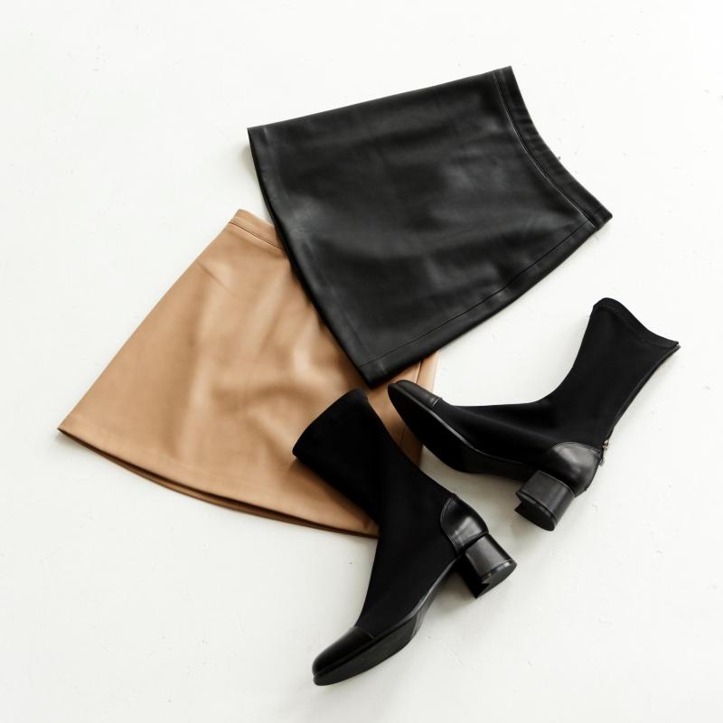 Юбка черная из эко кожи photo - 2
