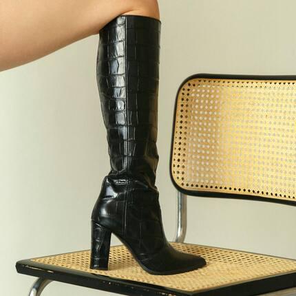 Croc knee high boots ✨
